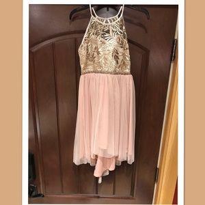 Girls Rare Edition Gold Dress Size 10